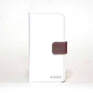 サンプル品「MIRROR my colors - ホワイト×ブラウン」 | 手帳型iPhone 6/6sケース