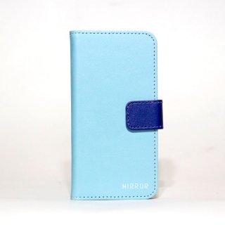 サンプル品「MIRROR my colors - ライトブルー×ネイビー」 | 手帳型iPhone 6/6sケース