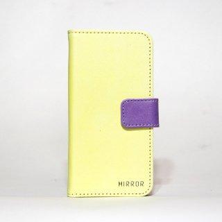 サンプル品「MIRROR my colors - イエロー×パープル」 | 手帳型iPhone 6/6sケース