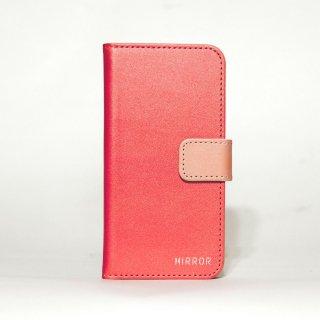 サンプル品「MIRROR my colors - レッド×オレンジ」 | 手帳型iPhone 6/6sケース