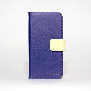 サンプル品「MIRROR my colors - ネイビー×イエロー」 | 手帳型iPhone 6/6sケース