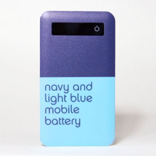 「navy and light blue mobile battery」 | モバイルバッテリー