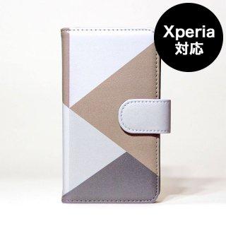 全機種対応マルチサイズ手帳型スマホケース「陽気なグレー」 | MIRROR / Diary