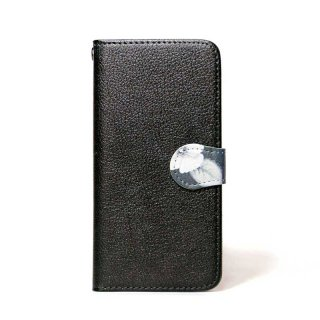 「ボタニカル(ブラック)」 | 手帳型iPhoneケース | Plan bシリーズ
