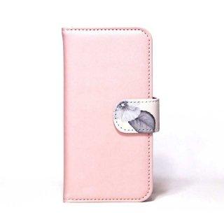 「ボタニカル(パステルピンク)」 | 手帳型iPhoneケース | Plan bシリーズ