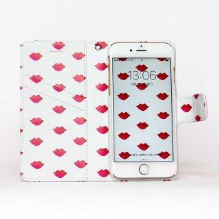 「Lips」| 両面プリント手帳型iPhoneケース(壁紙付き) | Plan bシリーズ