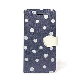 「Navy Dot」 | 手帳型iPhoneケース | Plan bシリーズ