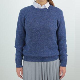レディース ベビーアルパカ ベーシックセーター(クルーネック) 全4色 【新色入荷】