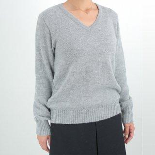 レディース ベビーアルパカ ベーシックセーター(Vネック) 全4色 【 新色入荷】