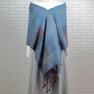 ベビーアルパカ 【一点物】 手織りショール K19-06