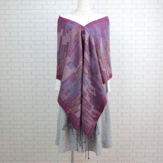 ベビーアルパカ 【一点物】 手織りショール K19-07