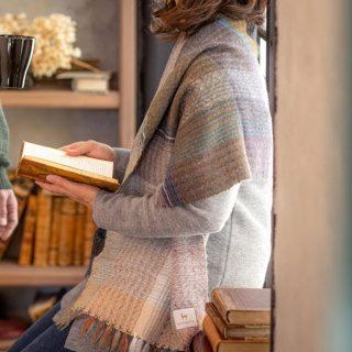 ベビーアルパカ 【一点物】 手織りショール K19-08