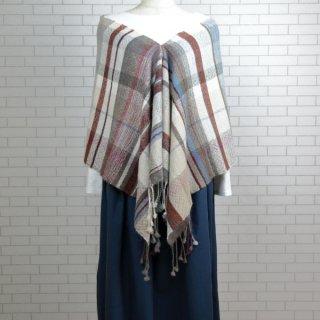 ベビーアルパカ 【一点物】 手織りショール K19-09