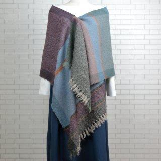 ベビーアルパカ 【一点物】 手織りショール K19-10