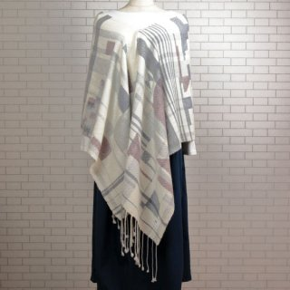 ベビーアルパカ 【一点物】 手織りショール K19-11
