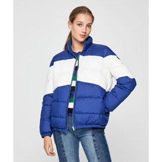 KATHLEEN COLOR BLOCK QUILTED COAT
