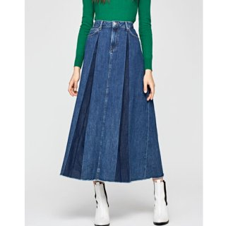 MAXIME DENIM MIDI SKIRT