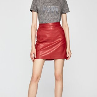 CARRY ECOLEATHER MINISKIRT