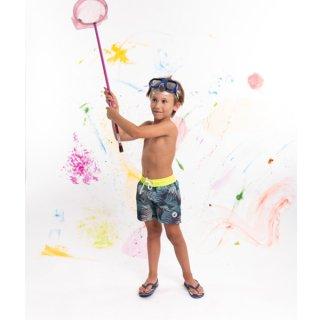 KID'S SWIM WEAR 9941-FREJUS | TROPICAL/ JAUNE FLUO