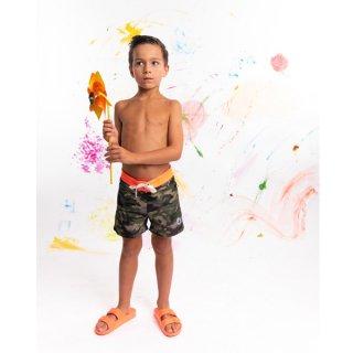 KID'S SWIM WEAR 9941-BAYONNE | CAMOFLAGE KAKI/ ORANGE FLUO