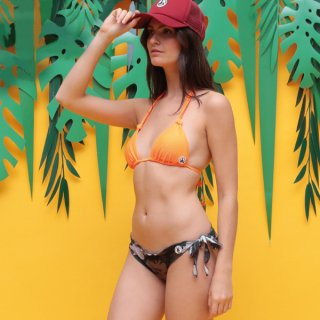 LADY'S SWIM WEAR 7941-ENSUES | ORANGE FLUO