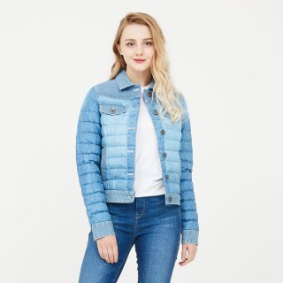 LADY'S JACKET 3905-BARDOT|WASHED BLUE