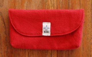 眼鏡ケース(赤)横開きタイプ