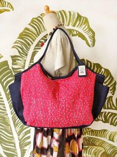 TM-DOTR 水玉(赤)大きいバッグ