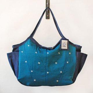 TMM-040-BL 刺繍(青)ミニママバッグ