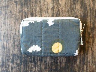 バティックコウモリ(グレー)カード・コインケースにピッタリなとっても小さいポーチ