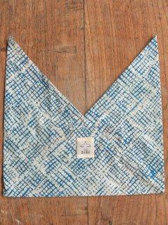 【即納可能商品です】あづま袋 ミニサイズ 水色格子 AZS-20-12
