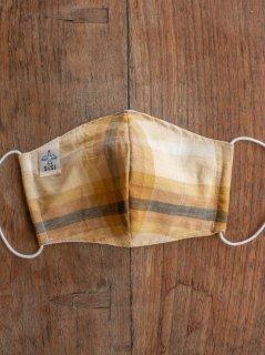 【ご予約商品:お届けは5月15日(土)以降の予定です】耳に優しいタイプのゴムを使った草木染めの布のマスク(男女兼用Lサイズ) L-MSK-TRM-01