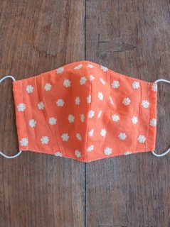 【ご予約商品:お届けは5月15日(土)以降の予定です】布マスク(男女兼用Lサイズ)刺繍オレンジ L-MSK-BDOR