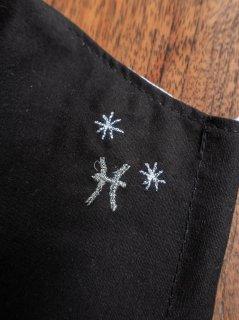 【ご予約商品:お届けは5月15日(土)以降の予定です】12星座の刺繍マスク(男女兼用Mサイズ)うお座(ブラック)
