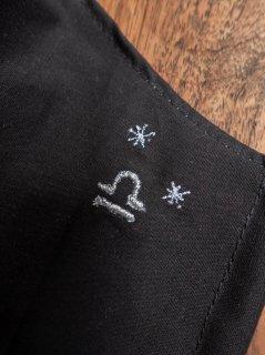 【ご予約商品:お届けは5月15日(土)以降の予定です】12星座の刺繍マスク(男女兼用Mサイズ)てんびん座(ブラック)