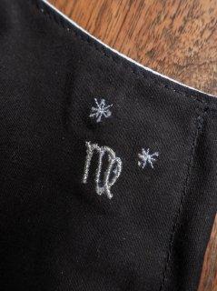 【ご予約商品:お届けは5月15日(土)以降の予定です】12星座の刺繍マスク(男女兼用Mサイズ)おとめ座(ブラック)