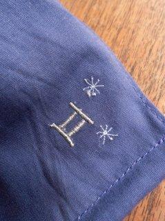 【ご予約商品:お届けは5月15日(土)以降の予定です】12星座の刺繍マスク(男女兼用Mサイズ)ふたご座(ライトネイビー)