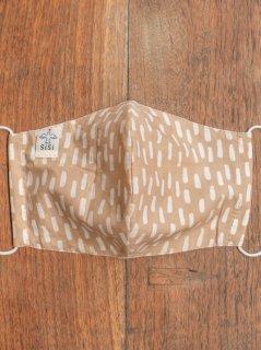 【ご予約商品:お届けは2月6日(土)前後の予定です】草木染めバティックの布マスク『雨』(男女兼用Lサイズ) L-MSK-WAB-01