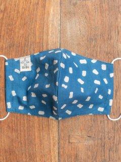 【ご予約商品:お届けは5月15日(土)以降の予定です】草木染めバティックの布マスク『マシュマロ』(男女兼用Lサイズ) L-MSK-WAB-02