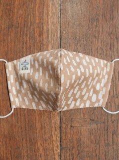【ご予約商品:お届けは2月6日(土)前後の予定です】草木染めバティックの布マスク『雨』(男女兼用Mサイズ) M-MSK-WAB-01