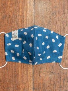 【ご予約商品:お届けは2月6日(土)前後の予定です】草木染めバティックの布マスク『マシュマロ』(男女兼用Mサイズ) M-MSK-WAB-02