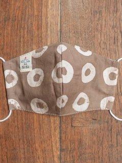 【ご予約商品:お届けは5月29日(土)以降の予定です】草木染めバティックの布マスク『ドーナツ』(男女兼用Mサイズ) M-MSK-WAB-05