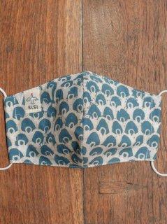 【ご予約商品:お届けは2月6日(土)前後の予定です】草木染めバティックの布マスク『一つ目』(男女兼用Mサイズ) M-MSK-WAB-07