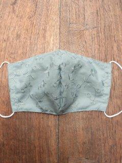 【ご予約商品:お届けは5月15日(土)以降の予定です】布マスク(男女兼用Lサイズ)マンゴスチン染めのシルク内布