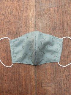 【ご予約商品:お届けは5月29日(土)以降の予定です】布マスク(男女兼用Mサイズ)マンゴスチン染めのシルク内布