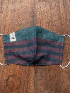 【ご予約商品:お届けは5月6日(木)以降の予定です】バリ島の草木染布マスク(男女兼用Lサイズ)