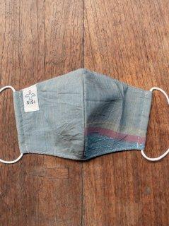 【ご予約商品:お届けは8月19日(木)以降の予定です】バリ島の草木染め布マスク(男女兼用Mサイズ)