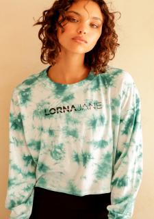 ☆New☆LORNA JANE(ローナジェーン)Grunge Tie Dye Long Top/グランジ タイダイ ロングスリーブトップ