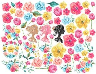 【プライスダウン】転写紙 『Royal Garden-ロイヤルガーデン』 A4 ポーセリンアート