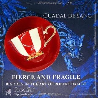 転写紙 『Guadal de sang/ガダル ドゥ サン (ガダルキヴィール風・深紅単色)』 白磁 陶芸 焼成用 A3サイズ【Roi&Li'l】ポーセリンアート